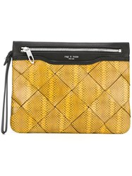 Rag And Bone Zip Medium Clutch Yellow And Orange