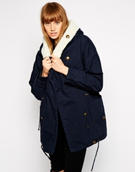 Mbym Jacket With Sheared Lining And Collar 202Blueeclipse