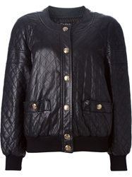 Chanel Vintage Quilted Bomber Jacket Black
