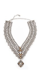 Dannijo Sorella Necklace Ox Silver Clear Matte Black Nu