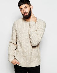 Asos Cable Knit Jumper Ecru Beige