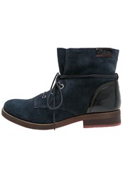 S.Oliver Laceup Boots Navy Dark Blue