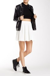 Soprano Pleated Short Skirt Juniors White