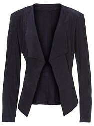 Betty Barclay Suede Panelled Jacket Navy Blue
