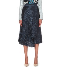 Peter Pilotto High Rise Jacquard Midi Skirt Navy