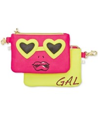 Betsey Johnson 2 For 1 Zip Coin Purse Set Multi