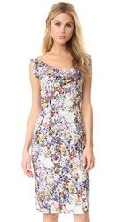 Black Halo Sullivan Sheath Dress Painted Meadow
