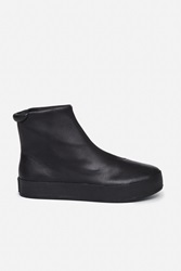 Opening Ceremony Leather High Top Platform Sneakers Black