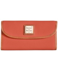 Dooney And Bourke Pebble Continental Clutch Burnt Orange