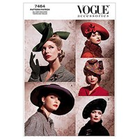 Vogue Women's Accessories Hats Sewing Pattern 7464