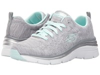Skechers Fashion Fit Gray Mint Women's Shoes