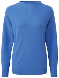 Pure Collection Ella Slouch Sleeve Jumper Nordic Blue