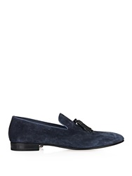 Sergio Rossi Leather Tassel Suede Loafers
