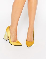 Asos Pier Pointed High Heels Ochre Yellow