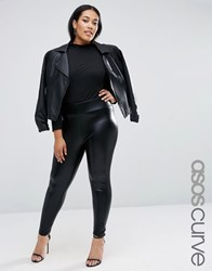 Asos Curve Halloween Wet Look Leggings Black