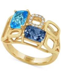 Effy Collection Effy Blue Topaz 3 1 3 Ct. T.W. And Diamond Accent Ring In 14K Gold