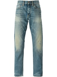 Simon Miller Distressed Stone Washed Jeans Blue