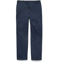 Alfred Dunhill Cotton Twill Trousers Blue