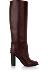 Proenza Schouler Leather Knee Boots Dark Brown