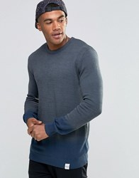 Nicce London Dip Dye Knitted Jumper Grey