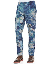 J Brand Jeans Trooper Digital Patterned Slim Cargo Pants Multi