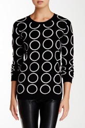 Philosophy Cashmere Polka Dot Intarsia Cashmere Sweater Black