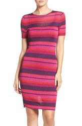 Trina Trina Turk Women's 'Blu' Stripe Body Con Sweater Dress