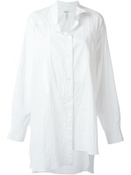 Loewe Long Asymmetric Shirt White