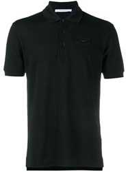 Givenchy Cuban Fit Logo Patch Short Sleeve Polo Shirt Black