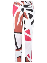 Andrea Marques Printed Skinny Trousers White