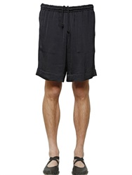 Dries Van Noten Viscose Satin Shorts