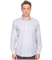 Billy Reid John T Shirt Button Up Blue Gingham