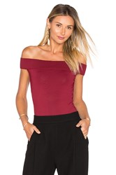 Egrey Off The Shoulder Bodysuit Red