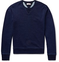 J.Crew Wallace And Barnes Indigo Dyed Loopback Cotton Jersey Sweatshirt Blue