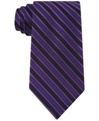Calvin Klein Men's Bar Stripe Tie Lilac
