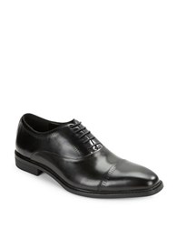 Kenneth Cole Reaction Rest Less Leather Cap Toe Oxfords Black