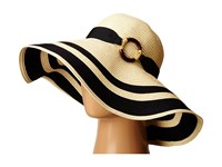 Lauren Ralph Lauren Paper Straw Bright Natural Sun Hat Natural Black Traditional Hats Beige
