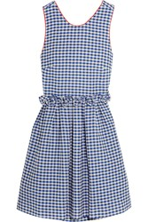 Mother Of Pearl Lola Ruffled Gingham Cotton Dress Blue
