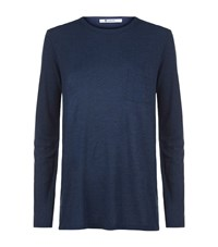 Alexander Wang T By Long Sleeve T Shirt Female Navy