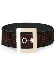 Versace ' Greek' Velvet Belt Black