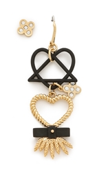 Marc By Marc Jacobs Harvest Heart Earrings Black Multi