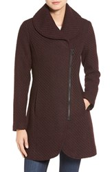 Jessica Simpson Women's Shawl Collar Coat Boysenberry