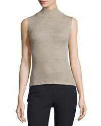 T By Alexander Wang Sheer Wool Ribbed Turtleneck Top Women's Size Xs Brown Camel