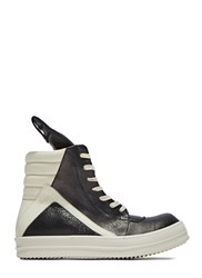 Rick Owens Leather Geobasket Sneakers Black