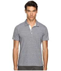 Billy Reid End On End Pensacola Polo Charcoal Heather Men's Clothing Gray