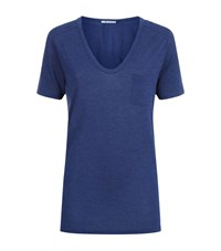 Alexander Wang T By Classic Pocket Tee Female Blue