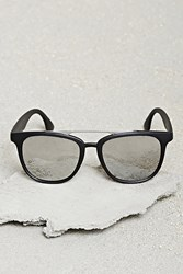 Forever 21 Men Mirrored Square Sunglasses Black Silver