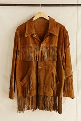 Urban Renewal Vintage Suede Fringe Jacket Assorted