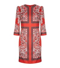 Alexander Mcqueen Paisley Print Scarf Wrap Dress Female Brown