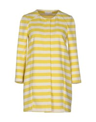 Patrizia Pepe Coats And Jackets Full Length Jackets Women Yellow